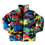 30 Set's) Stand Collar Camouflage Printed Bubble Coat
