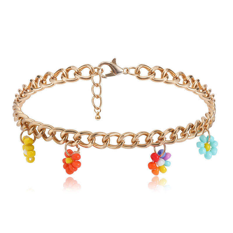 30 Set's) Daisy Shaped Four-piece Anklets Set-10 TWENTY 2 RETAIL©