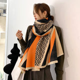 30 Set's) F. F Matching Double-sided Warm Shawl
