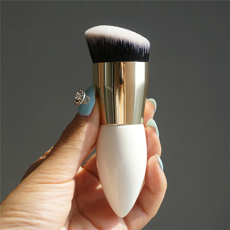 30 Set's) Chubby Wooden White Gold Makeup Brushes