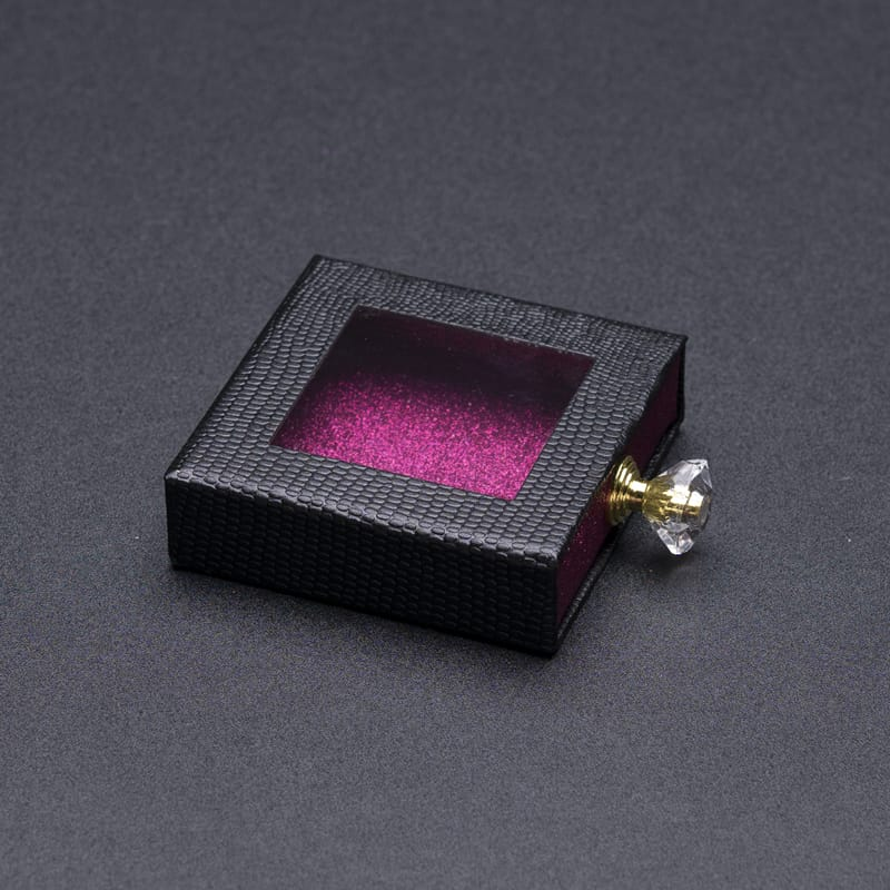 100 Set's) Wholesale Square Perfume Design Skylighted Drawer Type Eyelash Box