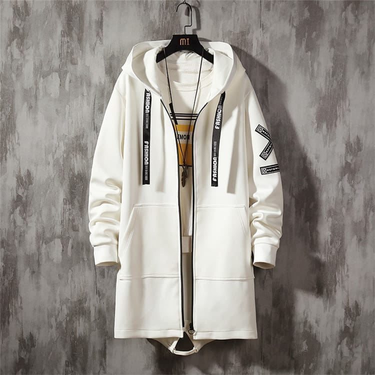 30 Set's) Men Leisure Plus Size Winter Long Sleeve Zipper Hooded Topcoat