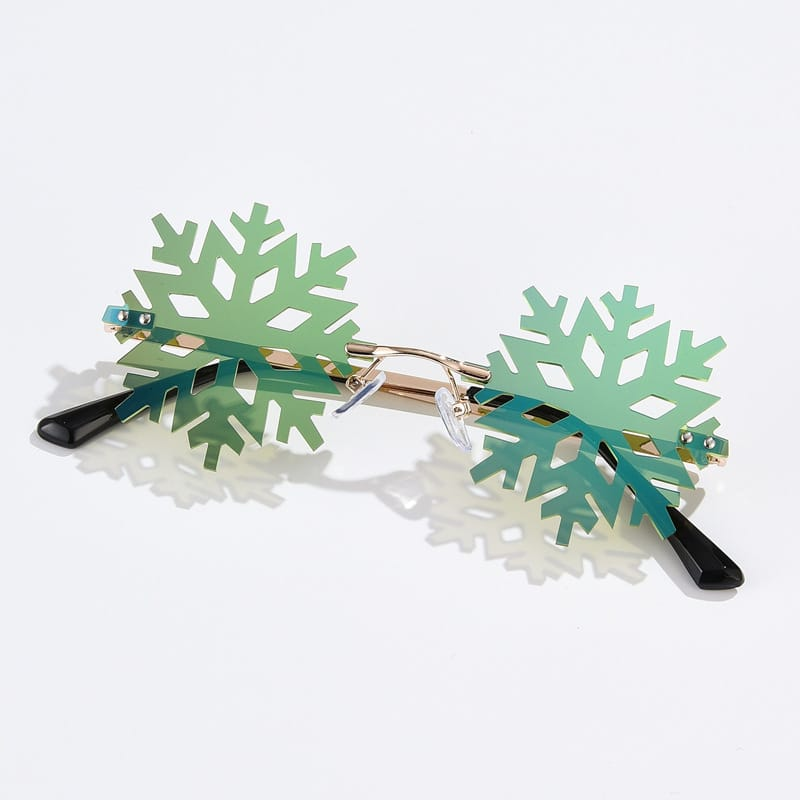 Wholesale Creative Snowflake Shape Rimless Sunglasses 10 twenty 2
