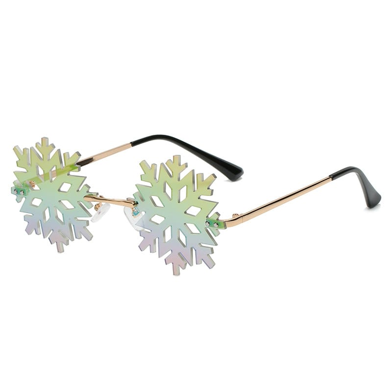 30 Set's) Snowflake Shape Rimless Sunglasses