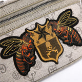 Zipper Bee Embroidery Pattern Waist Bag