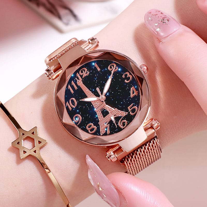 30 Set's) Paris Tower Magnetic Strap Quartz Watch