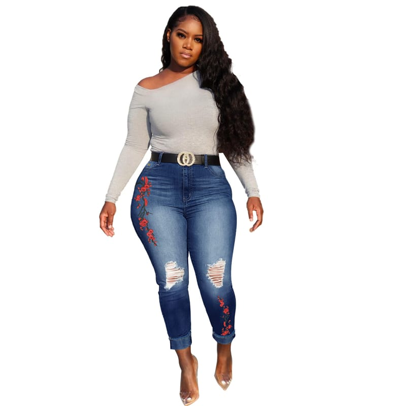 30 Set's High Waisted Ripped Jeans