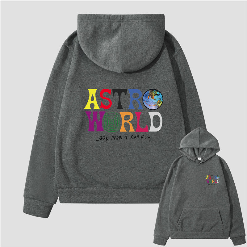 30 Set's) Astro World Long Sleeve Multicolor Letter Printed Hoodie-10 TWENTY 2 RETAIL©
