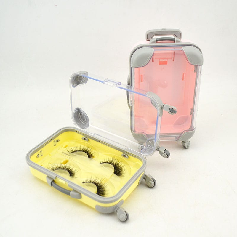 30 Set's) Wholesale Trolley Case Modeling Eyelash Box Loading Of Two Pairs