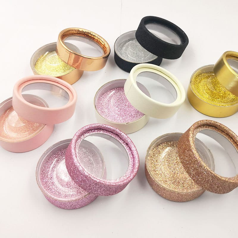 Wholesale Solid Color Round Eyelash Box 10 Twenty 2. vendor the boss palace