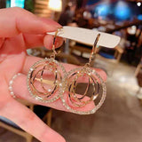 Wholesale Women Fashion Rhinestone Decorative Earrings