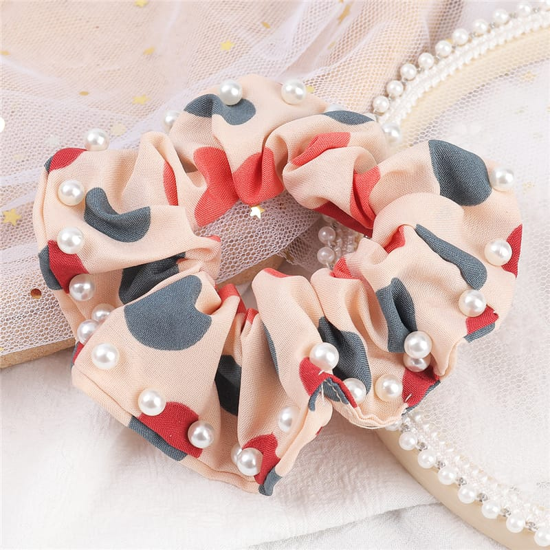 30 Set's) Pearl Decorative Hair Tie