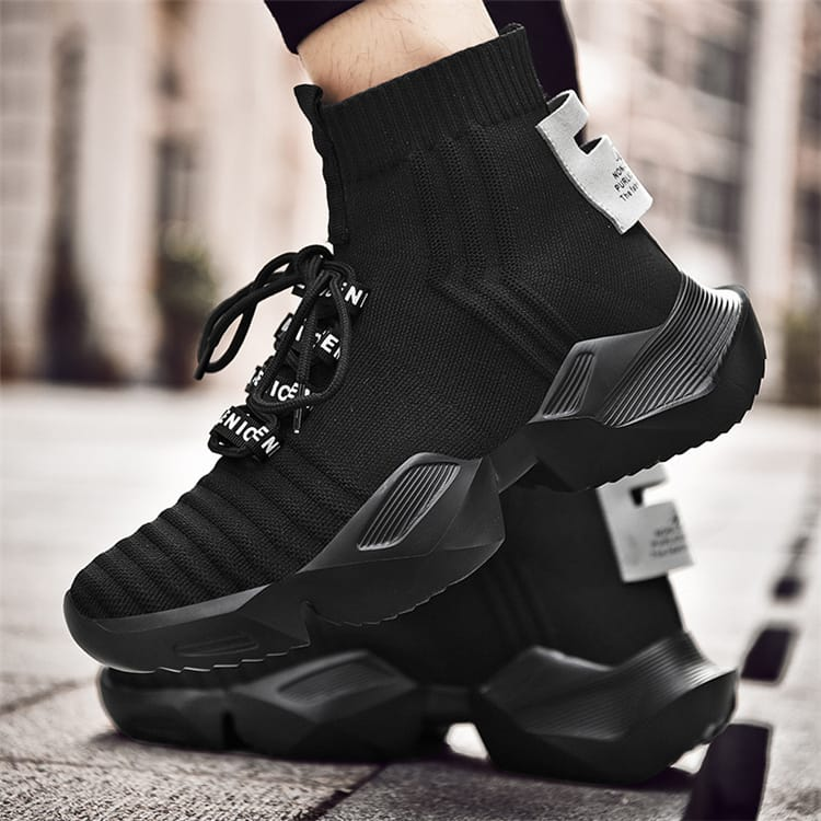 30 Set's) Men Fashion Thick-soled High Top Lace-up Sneakers