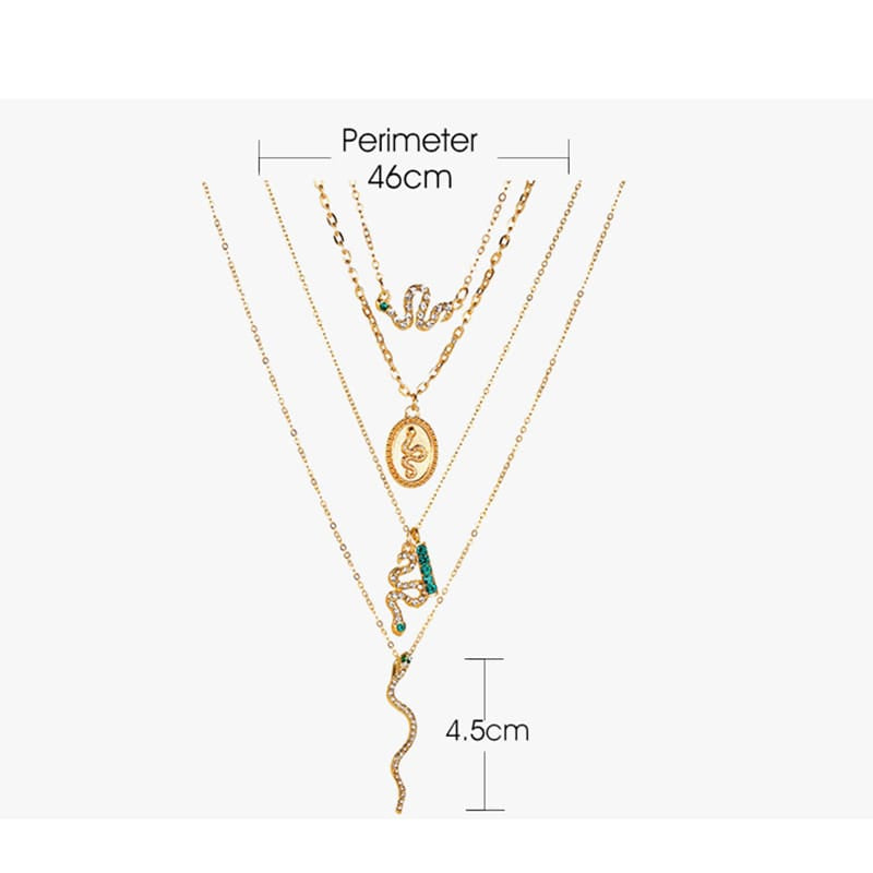 30 Set's) Women Unique Rhinestone Decorative Multilayer Necklace