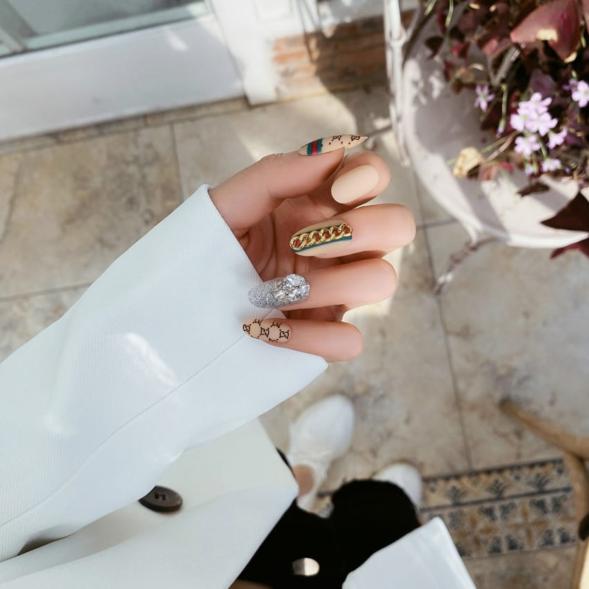 30 Set's) Wholesale 24pcs/box Creative Pattern Rhinestone False Nails