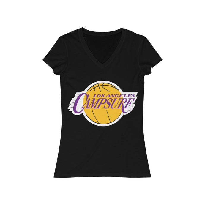 Women's Camp Surf Lakers Short Sleeve V-Neck Tee