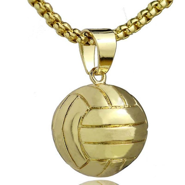 Volleyball Stainless Steel Unisex Necklace