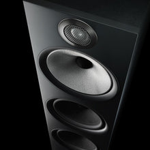 Load image into Gallery viewer, Close up view of black 603 floorstanding speaker