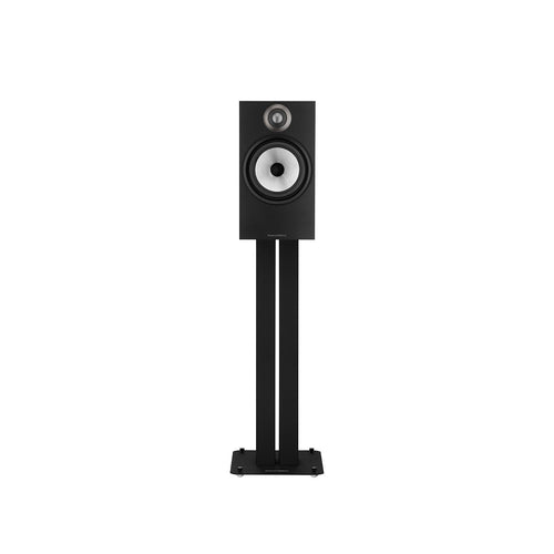 Black 606 bookshelf speaker on black stand