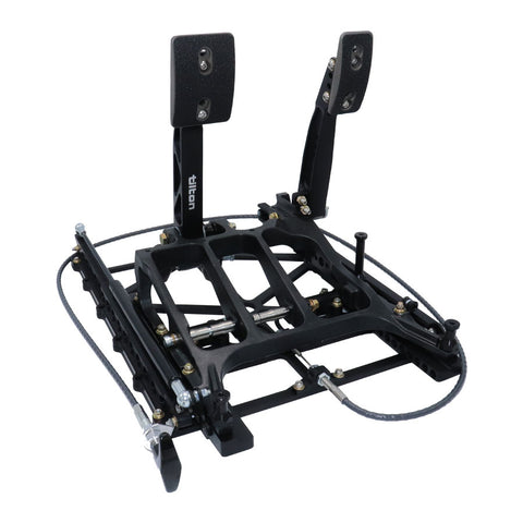 Tilton Floor Mount Underfoot 2 Pedal Box 850 Series with Slider