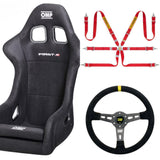 First R Seat/Harness/Steering Wheel Combo