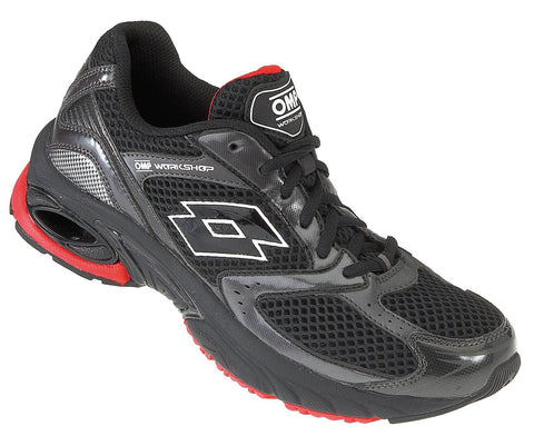 OMP Lotto Workshop Shoe, Black/Red
