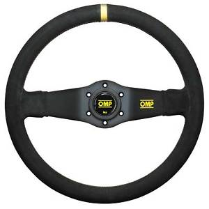 OMP Steering Wheel - Rally, Suede 2 Spoke