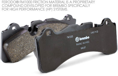 High performance brake pads