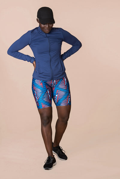 MSLux Wax Ocean High Waist Cycling Short