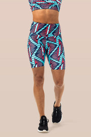 MSLux Aquatic High Waist Cycling Shorts