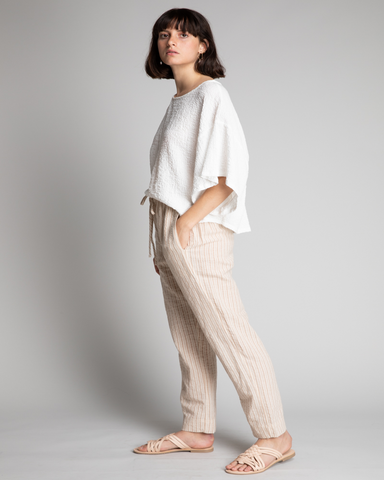 Easy Striped Cotton Pant