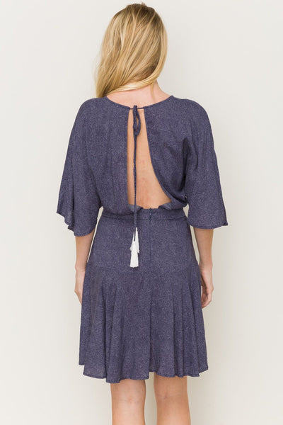 Kimono Wrap Dress With Open back