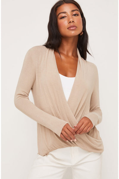 Lush Front Wrap Knit Top