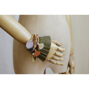 Ruffled Wrist Cuffs,(Set of 2 Pieces)