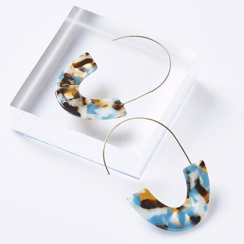 Turquoise & Tortoise Lily Earrings