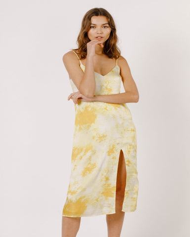 Mustard Slip Dress w/ Slit