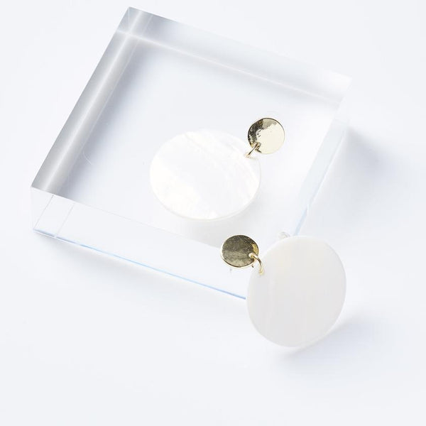 White Fiji Earrings