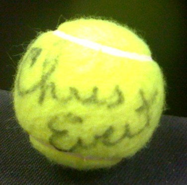 Chris Evert Autographed Tennis Ball