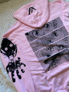 HXH Anger x and x Light Hoodie (LIGHT PINK)