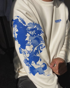 CHAMPLOO (BLUEPRINT) Premium Heavyweight Crewneck (BONE)