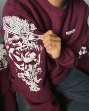 Load image into Gallery viewer, Tanjiro Constant Flux Premium Heavyweight Crewneck (MAROON)