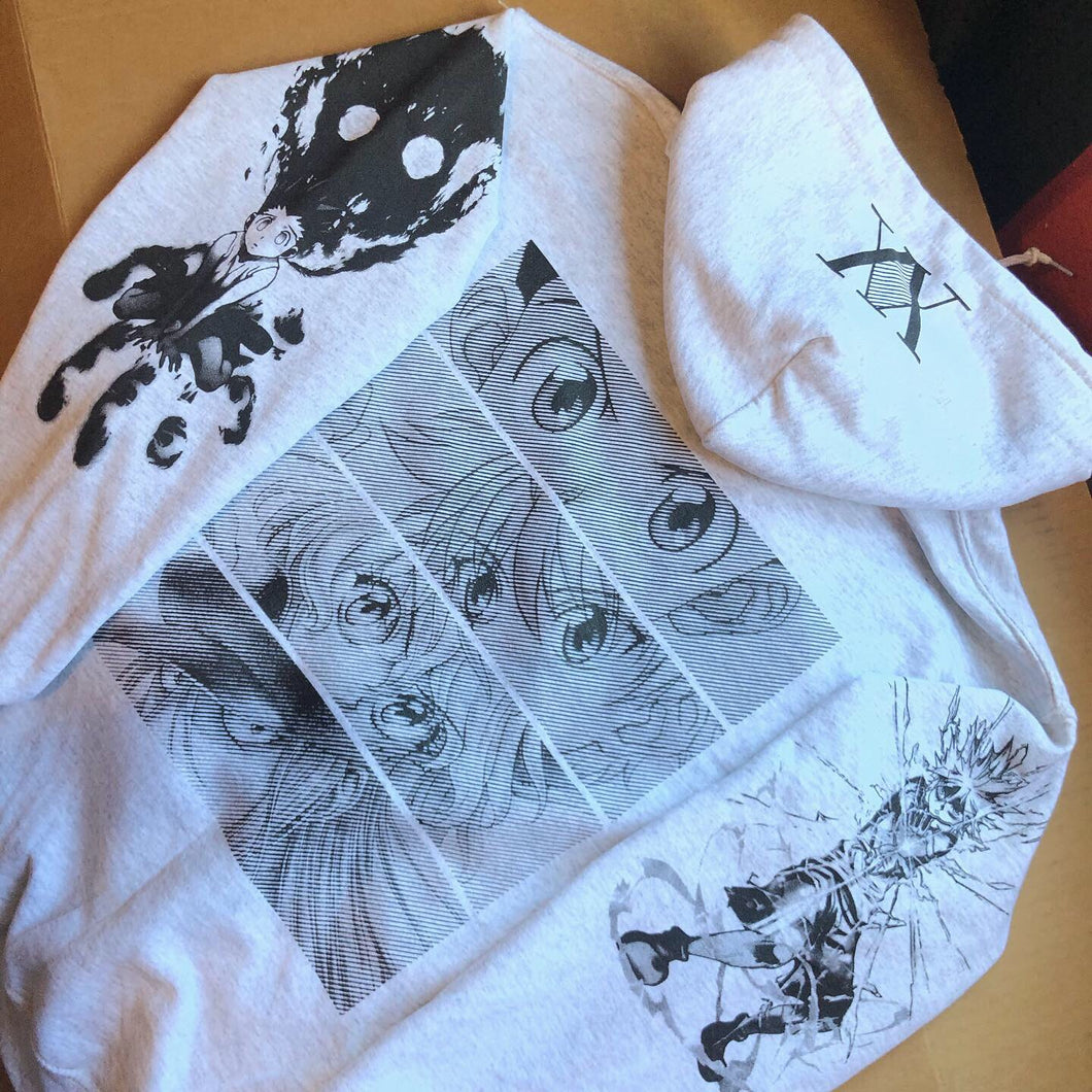 HXH Anger x and x Light Hoodie (ASH GRAY)