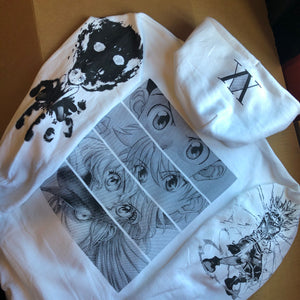 HXH Anger x and x Light Hoodie (WHITE)