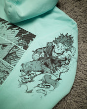 Load image into Gallery viewer, MHA x Project Mori Hoodie (MINT BLUE)