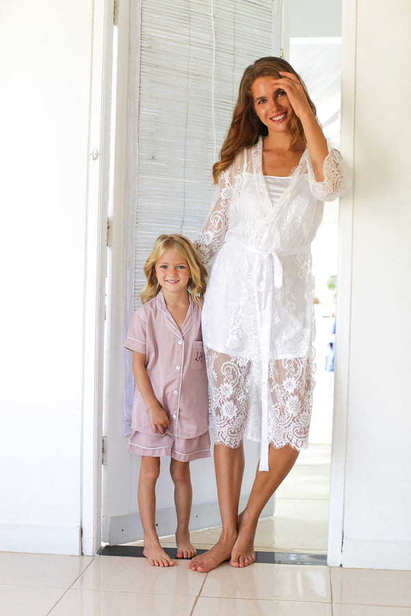 Maggie Crepe Flower Girl Pajamas