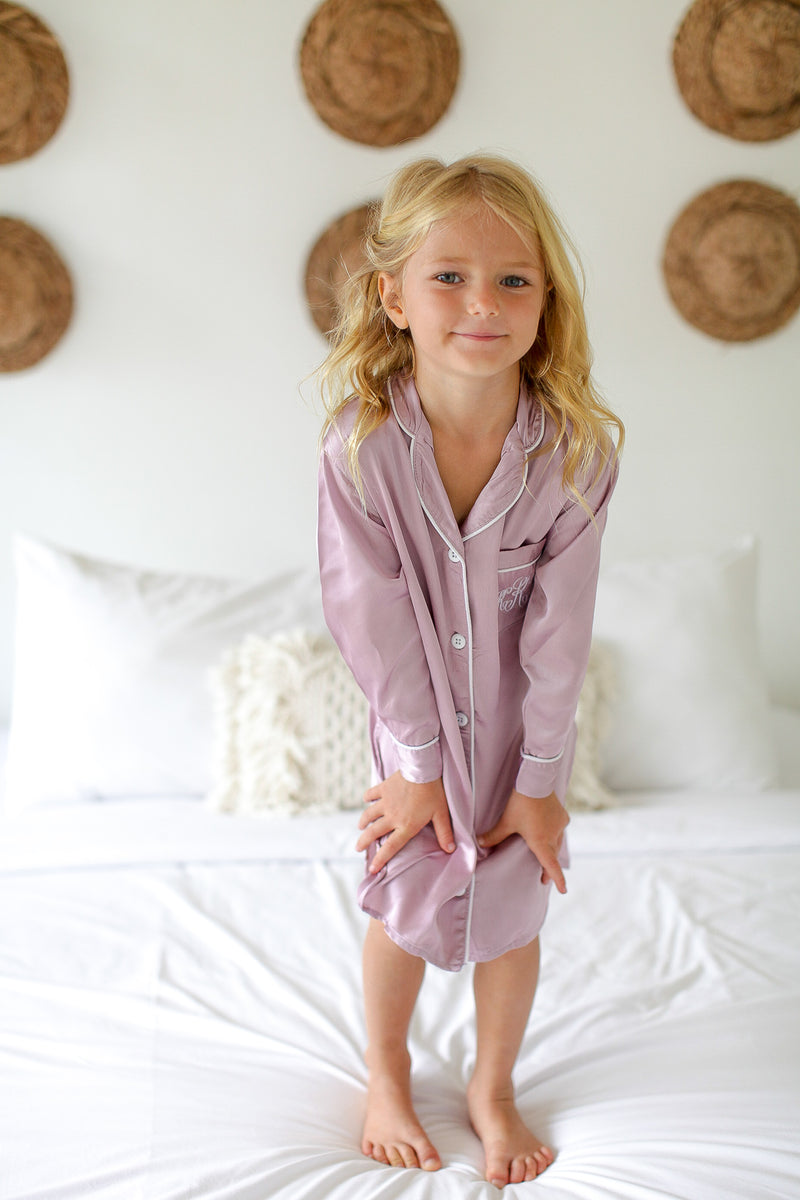 Fiona Satin Flower Girl Sleepshirt