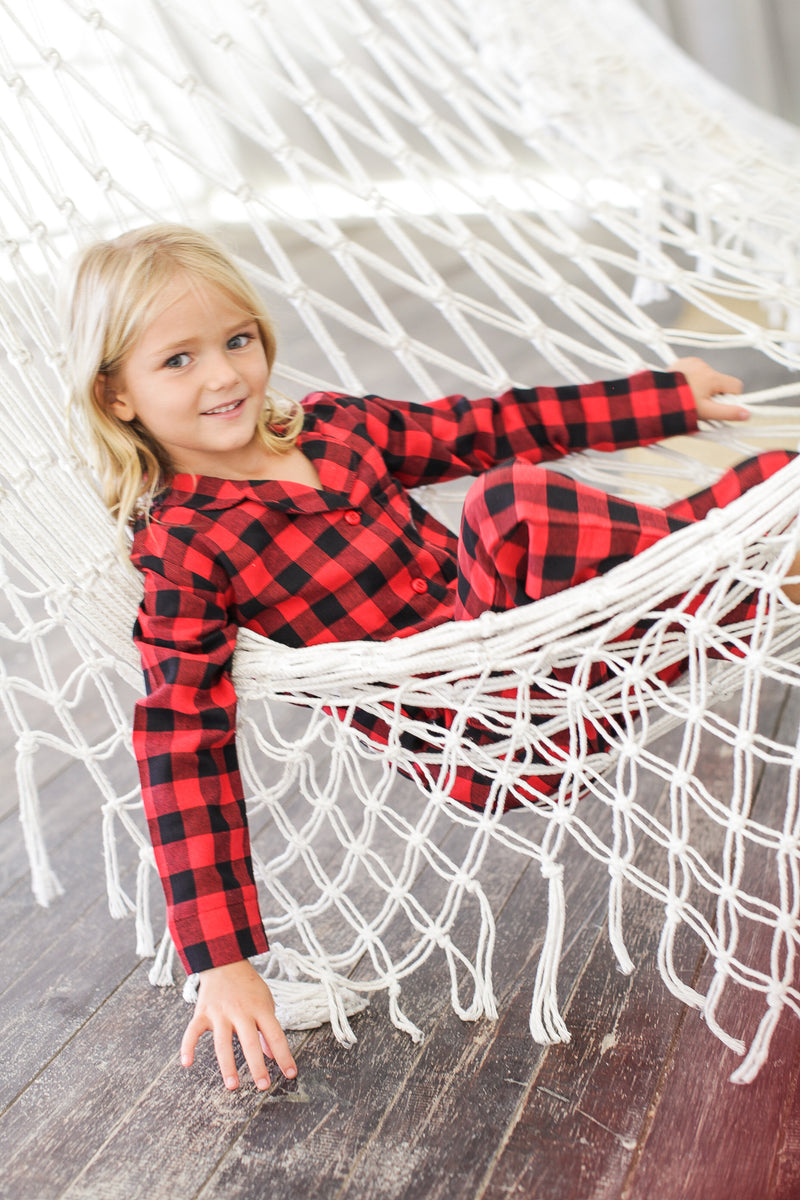 Aspen Kid's Flannel Pajama Set