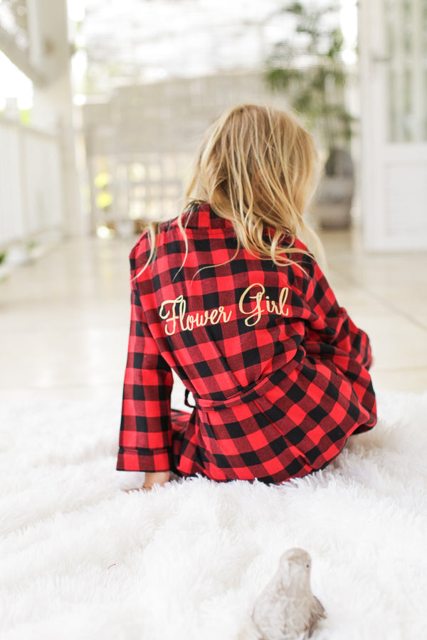 Telluride Kid's Flannel Robe