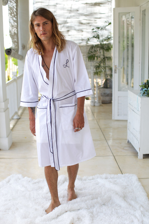 Brooklyn Men's Cotton Robe