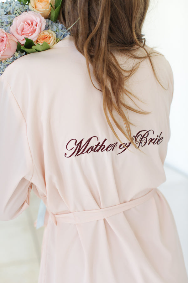 Blush Bridesmaid Robes // Robe // Bridal Robe // Bride Robe // Bridal Party Robes // Bridesmaid Gifts // Satin Robe // Lace Bridal Robe